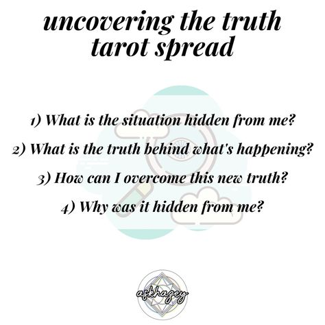 Sometimes, you can't avoid dealing with someone who's anything but truthful... When you feel like you have to follow your intuition, use this truthful tarot spread to give you some insight into what's hidden from you. . . #tarot #tarotcards #tarotreading #tarotreadersofinstagram #tarotreader #tarotspread #tarotcardreader #tarotlove #tarotonline #tarottribe #tarotreaders #tarotcommunity #tarotcard