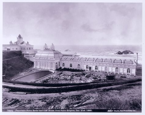 Sutro Baths next to The Cliff House
