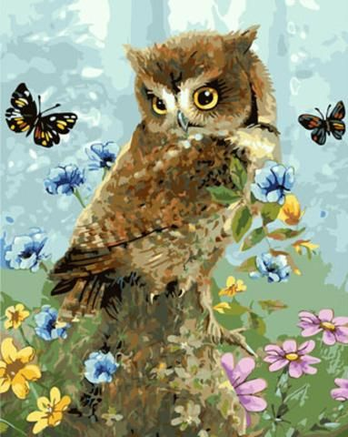 Bits and Pieces-Owl in the Meadow - 300 Piece Jigsaw Puzzle: Owl in the Meadow is a 300 Piece Jigsaw Puzzle designed by artist Giordano Studios. This jigsaw puzzle is made of recycled cardboard.Owl in the Meadow measures x