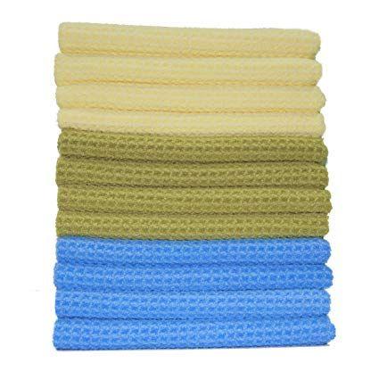 Polyte Premium Microfiber Kitchen Towel Waffle Weave 16 X 28 In