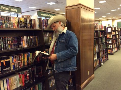 W. Michael Gear relaxing at the Billings, Montana, Barnes and Noble.