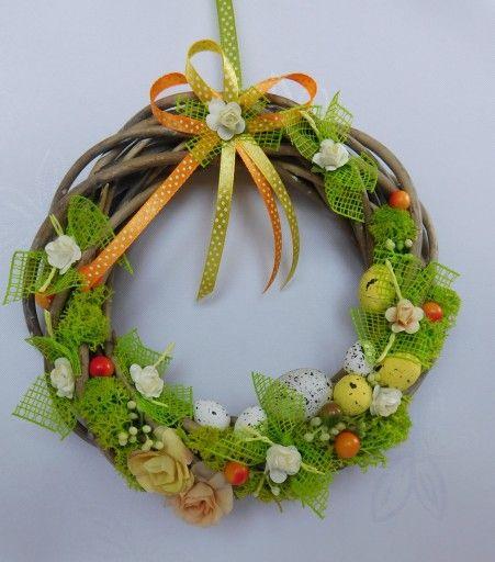 Piekny Stroik Na Drzwi Wianek Ratanowy Wielkanoc 7222564038 Oficjalne Archiwum Allegro Grapevine Wreath Grape Vines Decor