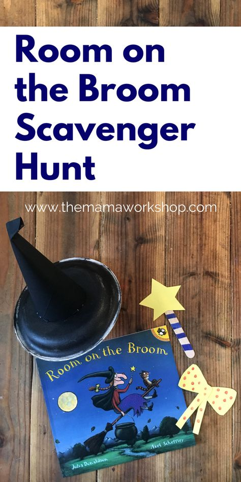 Halloween Reading: This Room on the Broom Scavenger Hunt is so fun! We had fun making the crafts and hiding them around the house to find. It is perfect for the book! Theme Halloween, Halloween Party Supplies, Halloween Crafts, Halloween Stories For Kids, Halloween Scavenger Hunt, Halloween Week, Halloween Designs, Halloween Invitations, Fall Preschool