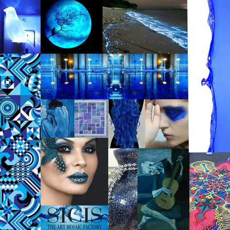 #SICIS #Blue #Blue Period #Collage #Monochromatic #tiles #inspiration #Blue Moon #Azul #Bleu #Patterns #Ocean and Sea #Mood Board