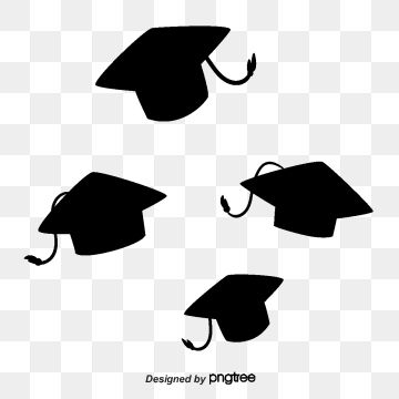 Black Academic Caps Creative Graduation Academic Caps Black Png Transparent Clipart Image And Psd File For Free Download In 2020 Free Graphic Design Graphic Design Background Templates Clip Art