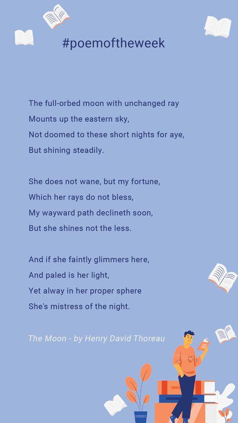 #henrydavidthoreau #themoon #poetryaboutthemoon #naturepoetry #poemoftheweek