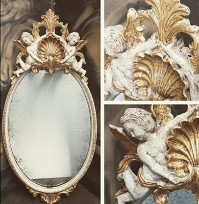R Rogers Designs Old World Renaissance Cherub Mirror In Stock Ready To Ship Mirror Shop Old Mirrors Old World