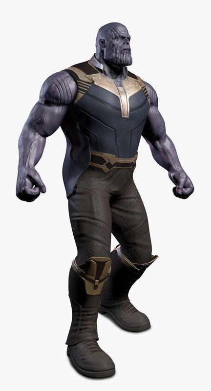 3d Thanos Avengers Infinity Model Infinity Models Avengers Model