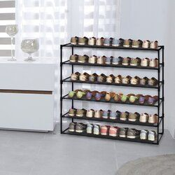 30 Pair Steel Shoe Rack Entryway Shoe Storage Shoe Rack Steel Shoes