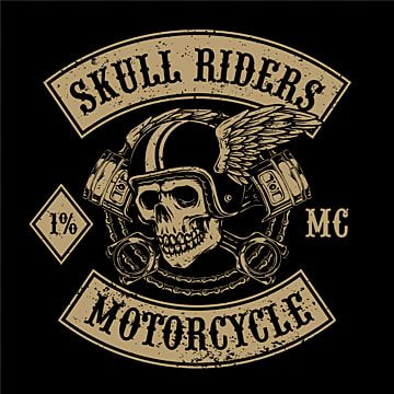 Flying Skull With Pistons For Motorcycle Club Logo Engine Bearded German Png Transparent Clipart Image And Psd File For Free Download Motorcycle Club Logo Motorcycle Clubs Club Logo Motorcycle club patch template photoshop