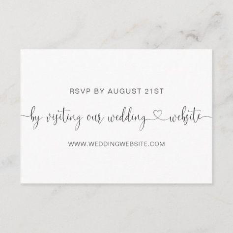 Wedding RSVP Online Card #calligraphy #script #simple #minimalist #rsvponline #weddingwebsite #weddingrsvpwebsite #rsvpwebsite #rsvp #heart