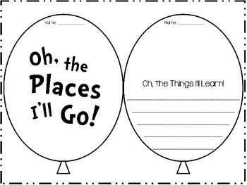 Oh The Places You Ll Go Goal Setting Activity Goal Setting Activities Dr Seuss Classroom Dr Seuss Activities