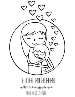 Tarjeta Del Dia De La Madre Para Colorear Con Imagenes Dibujos