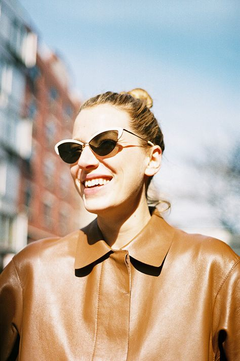 kate young for tura half almond cat eye sunglasses