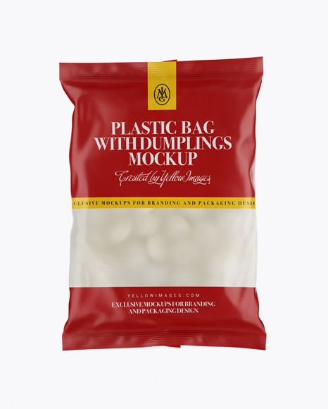 Download Frosted Plastic Bag With Dumplings Matte Mockup Free Psd Mockup Psd Free Psd Mockups Templates