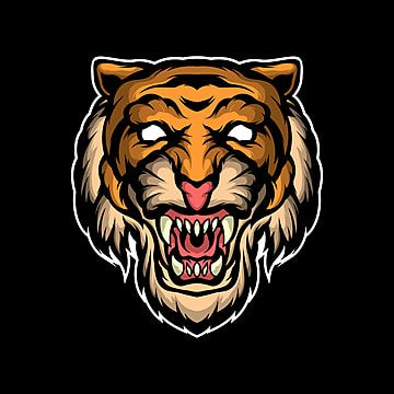 Tiger Face Illustration Aggressive Angry Animal Png And Vector With Transparent Background For Free Download Tiger Face Face Illustration Cat Paw Drawing