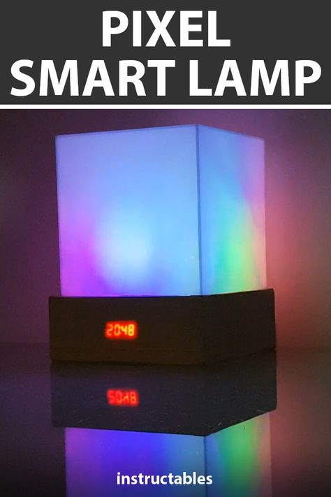 The pixel smart lamp is controlled by Bluetooth with an Android App.  #Instructables #electronics #technology #lighting #LED