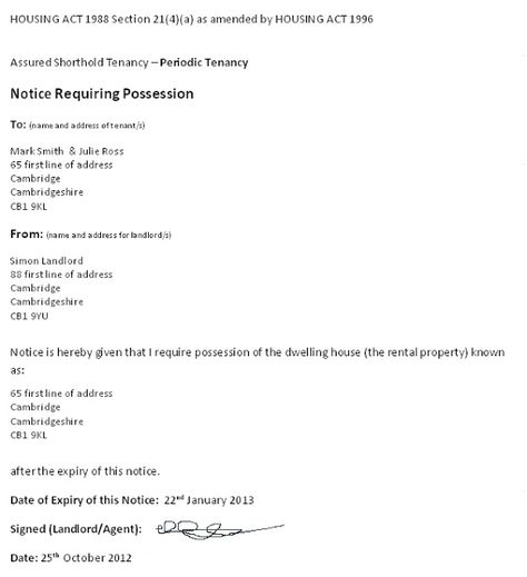 Long Term Tenancy Agreement Template Termination Of