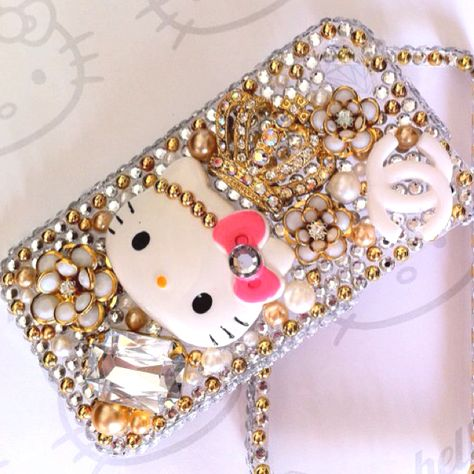 Gold Hello Kitty bling iPhone case