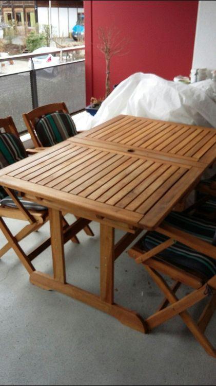 Gartentisch Mit 4 Stuhlen Holz Zum Kaufen Auf Ricardo Ch Stuhl Holz Gartentisch Tisch Und Stuhle