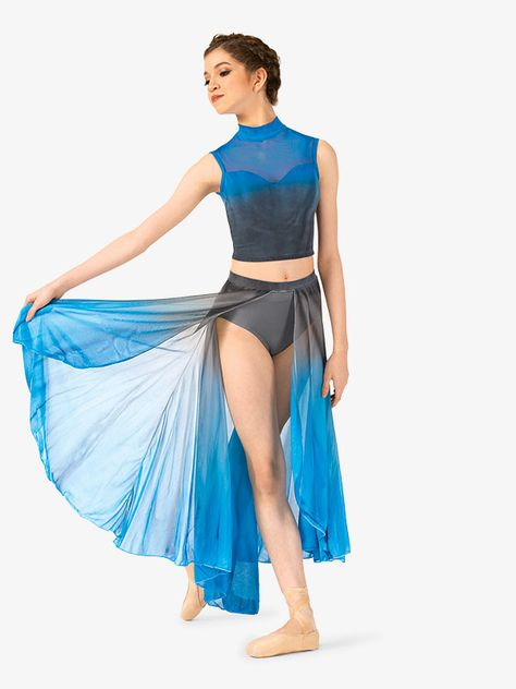 Cheap Dance Costumes, Modern Dance Costume, Contemporary Dance Costumes, Dance Costumes Lyrical, Dance Outfits, Dance Dresses, Dance Crop Tops, Ballet Fashion, Girl Dancing