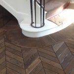 Chevron parquet/Fumed, stained and oiled - CANTERBURY Image Source: Renaissance Parquet