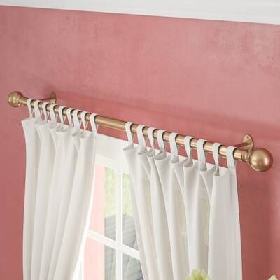 Liggett Floral Room Darkening Thermal Rod Pocket Curtain Panels With Images Single Curtain Rods Curtain Rod Hardware Curtains
