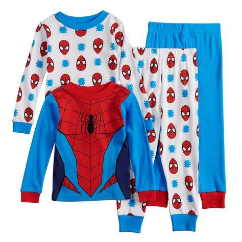 550b4596dc Toddler Boy Marvel Spider-Man Top   Bottoms Pajama Set in 2018 ...