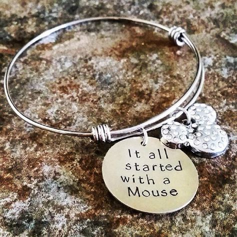 Bangle Disney Jewelry Mickey Mouse Hand by KKandWhimsy Cute Alex and Ani knockoff
