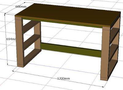 ツーバイspf材 2x4材 の簡単diyで予算5 000円で丈夫な机を作る 設計図 手順を無料で公開 ダイニングテーブルにも 2x4材のdiyロフト ベッドを1万円 二段ベッドを1 5万円でdiy超初心者が自作できる 作り方を完全解説する手順書 インテリア 家具 Diy 棚 作り方