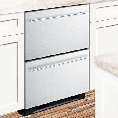 Summit Appliance Summit 4 8 Cu Ft Built In Freestanding Compact Drawer Refrigerator With Freezer Kitchen Renovation Inspiration Classic White Kitchen Undercounter Refrigerator