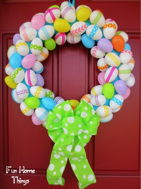 Easter Wreath Blue Easter Egg Wreath Egg Wreath By Dyjodesigns