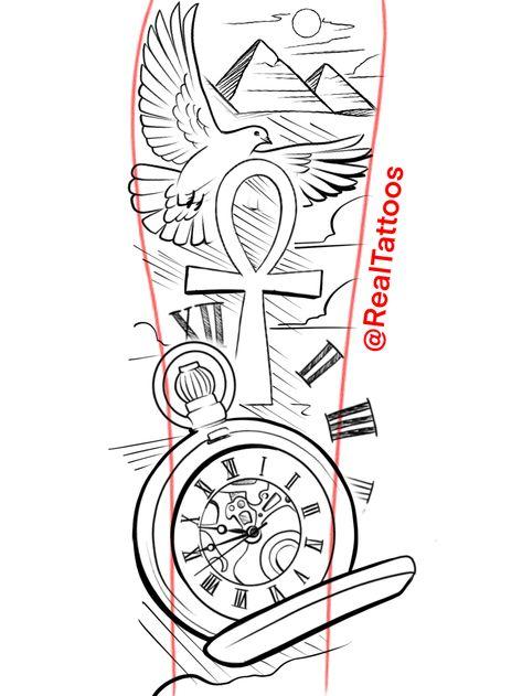 full sleeve tattoos for guys sketch Full Sleeve Tattoo Design, Tattoo Design Drawings, Tattoo Sketches, Tattoo Designs Men, Egypt Tattoo Design, Forearm Tattoo Quotes, Forearm Sleeve Tattoos, Best Sleeve Tattoos, Script Tattoos