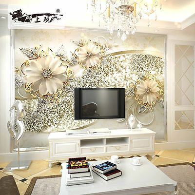 3D Sitting room bedroom TV background flower Embossed corridor wallpaper WT1951