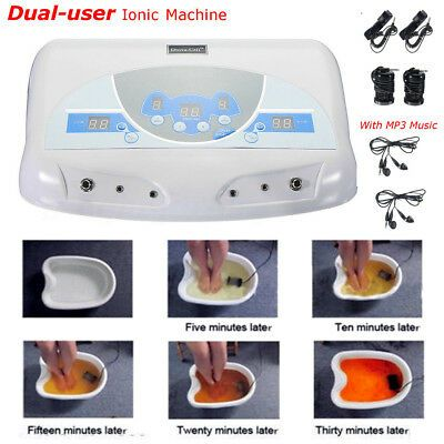 Advertisement Dual User Detox Ionic Foot Bath Ion Spa Machine Cell Cleanse Mp3 Arrays New In 2020 Ionic Foot Bath Ionic Foot Detox Spa Cleanse