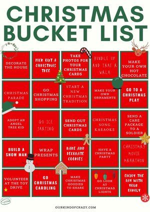 31 Days Of Christmas Bucket List Ourkindofcrazy Com In 2020 Christmas Bucket Christmas Bucket List Christmas Date