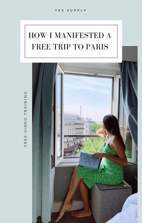 In this video, I will share with you the step-by-step process of how I manifested my free trip to Paris when I was younger! If you want to learn how to manifest free travel, or anything you want, I will share with you my top tips and mindset tools to make it happen!