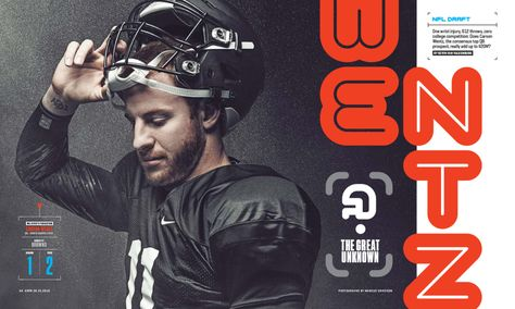 ESPN The Magazine / 0425 / NFL Draft Photograph by Mark Eriksson http://themarcus.com Custom typography and Icons by Michael Brandon Myers http://twoem.tumblr.com