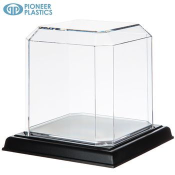 Softball Hockey Puck Display Case With Black Base Display Case