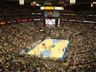 Pepsi Center, NBA arena where the Denver Nuggets play to a packed crowd!
