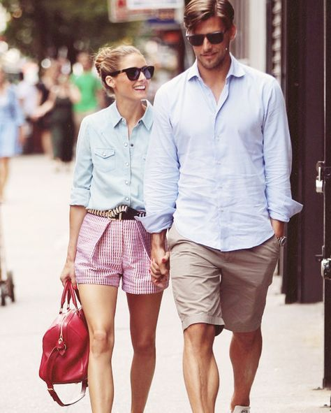 :Matching Couple Outfits💞 Olivia Palermo and Johannes Huebl Out in NYC