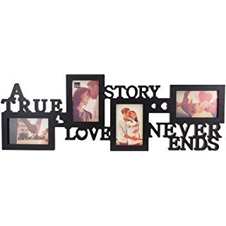 Kiera Grace Collage Picture Frame 10 By 30 Inch Holds 4 4 By 6 Inch Photos Black True Love Frame Wall Collage Collage Picture Frames Frame