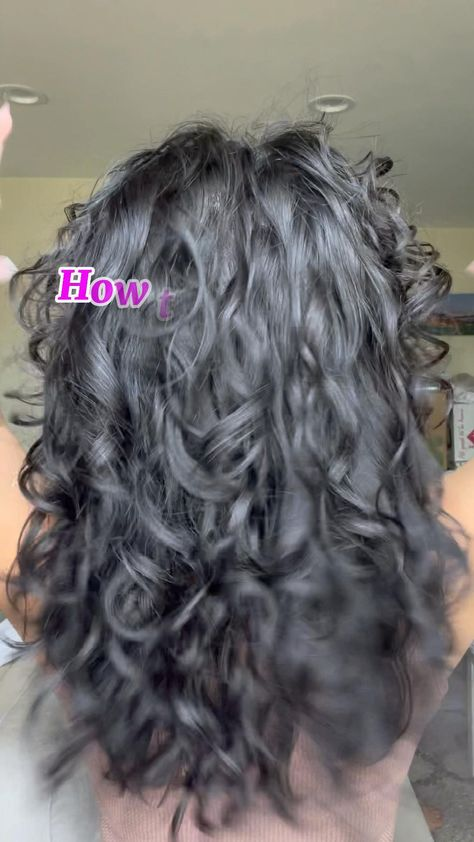 How to brush style wavy curly hair