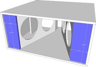 Projeto De Caixa Automotiva De Sub Graves Para 4 Alto Falantes De