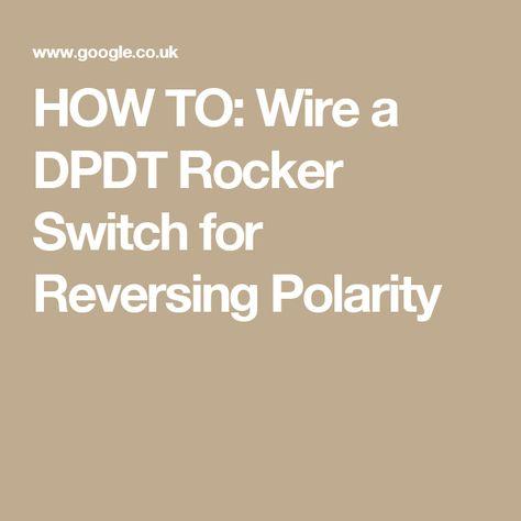 Dpdt Motor Reverse Switch Wiring Diagram Pictures Dpdt Motor