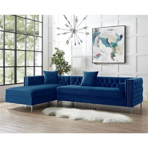 List Of Pinterest Sectional With Chaise Nailhead Trim Ideas