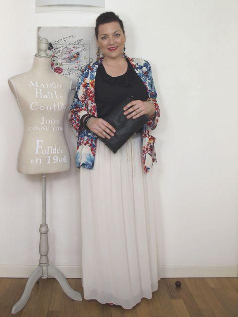 a basso prezzo e862f d70ff Verdementa Blog #outfit #curvy gonna lunga e #kimono a fiori ...