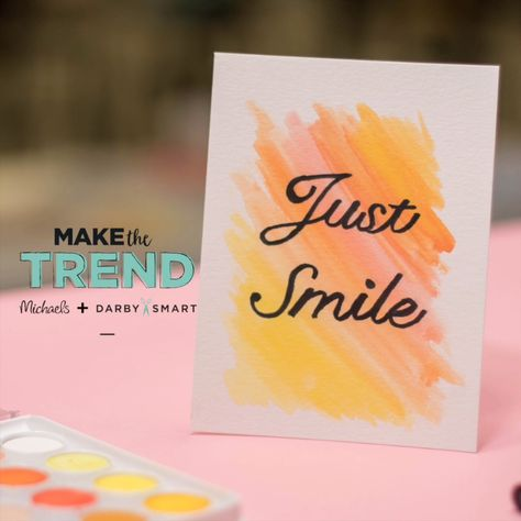 Easy DIY Spring Watercolor Cards ls #handlettering #watercolor #diyproject #walldecor #quotes #michaels