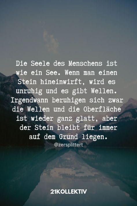 Die Seele des Menschens ist wie ein See. - #des #Die #ein #ist #Menschens #pores #Seele #wie