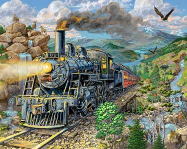 Big Horn Express Jigsaw Puzzle | 1000 Piece Puzzles | Vermont Christmas Co. VT Holiday Gift Shop